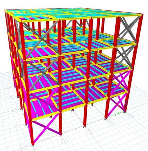 ETABS Structural Model